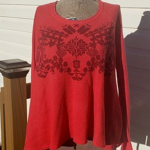 We the Free Waffle Knit Swing Top